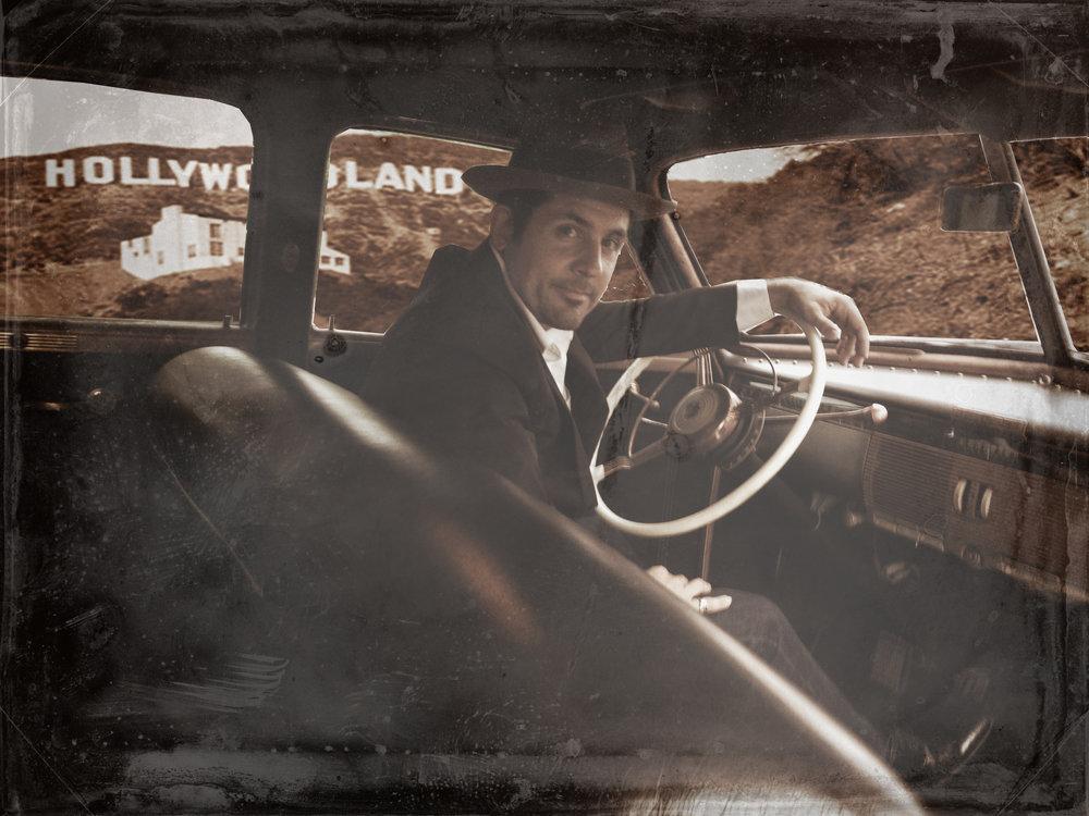 Danny Galieote in Car