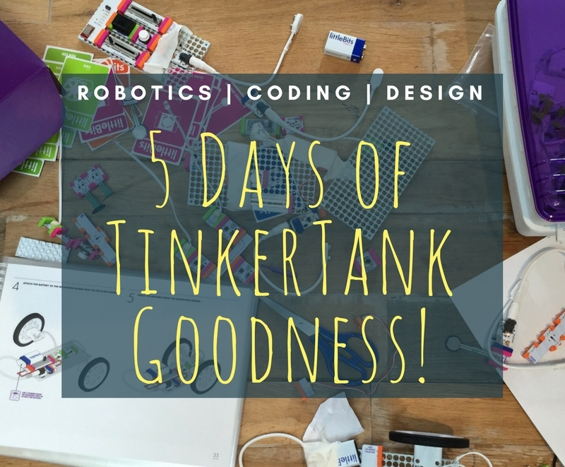 Create. Collaborate. Construct. - TinkerTank holiday camps are here!