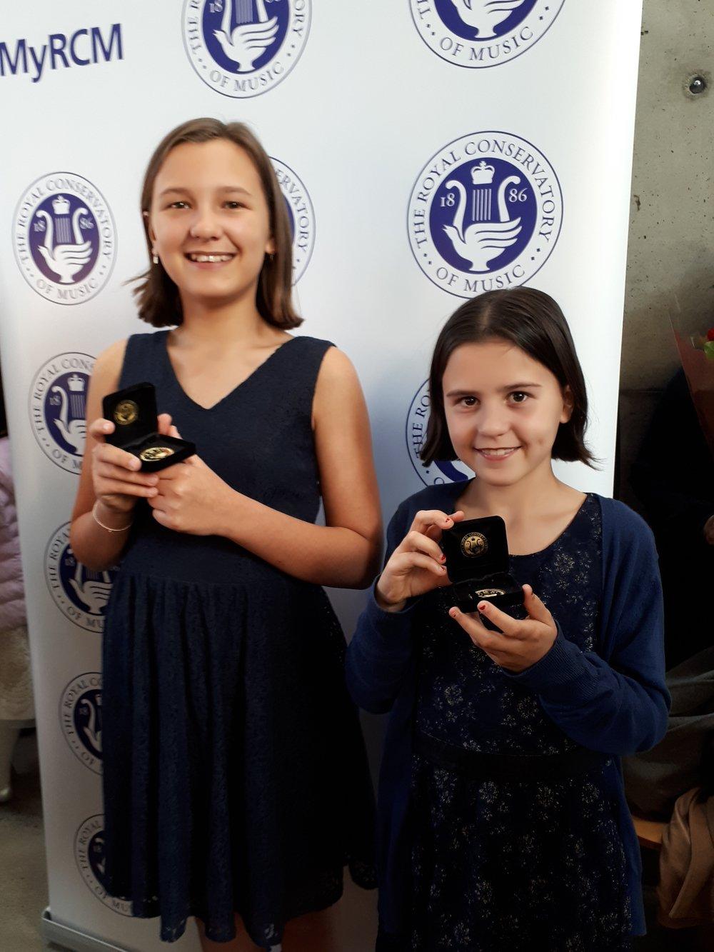 Hazel Szekely - RCM Grade 7 and her sister Olive Szekely RCM Grade 1