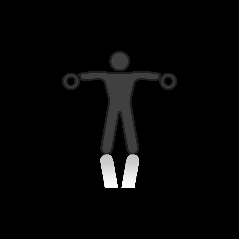 Vapailla painoilla voit harjoitella monipuolisesti ja vahvistaa lihaksia eristävillä liikkeillä!