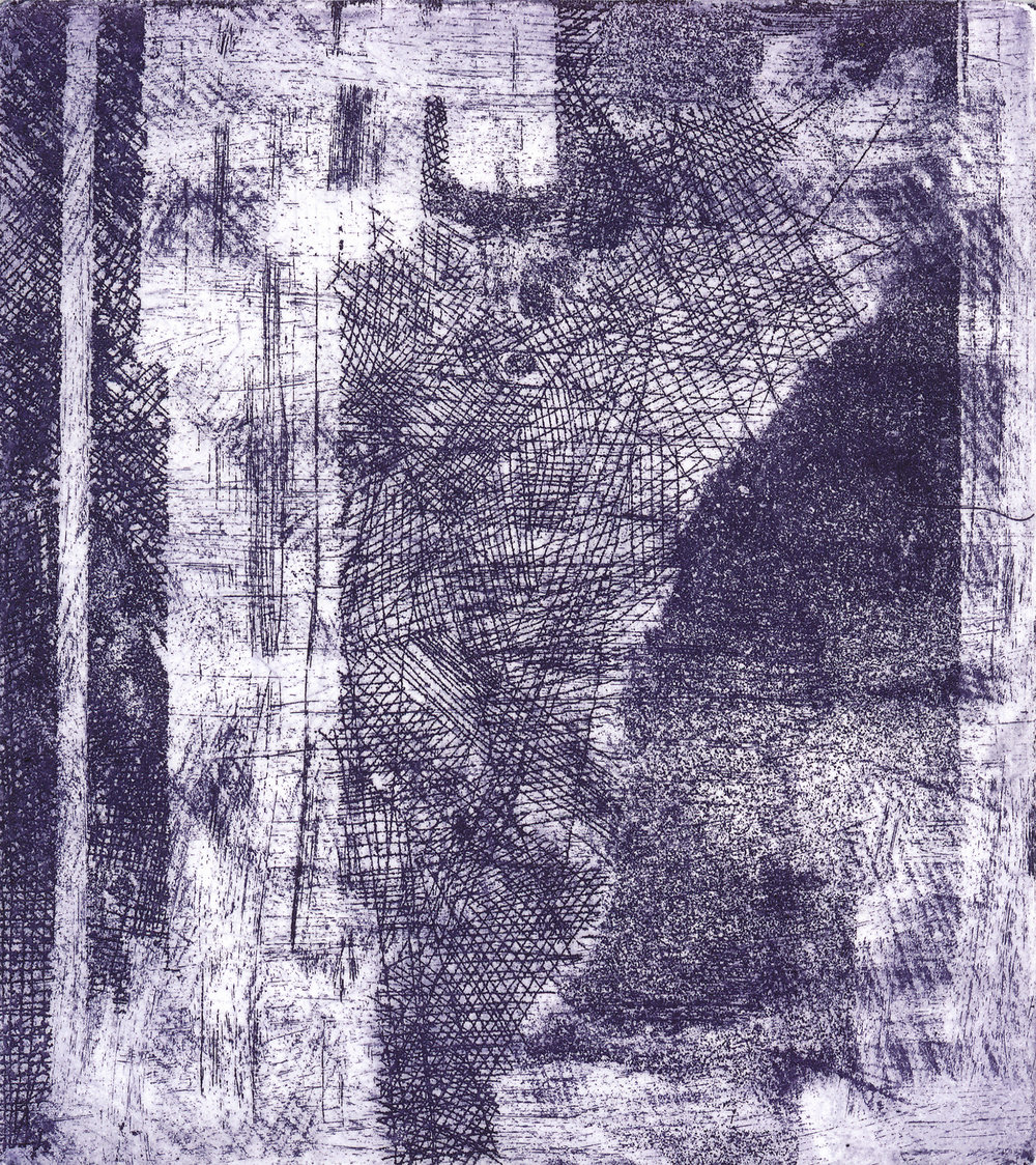 Meditation #1 , etching, 4.5 inches x 4 inches, 2018