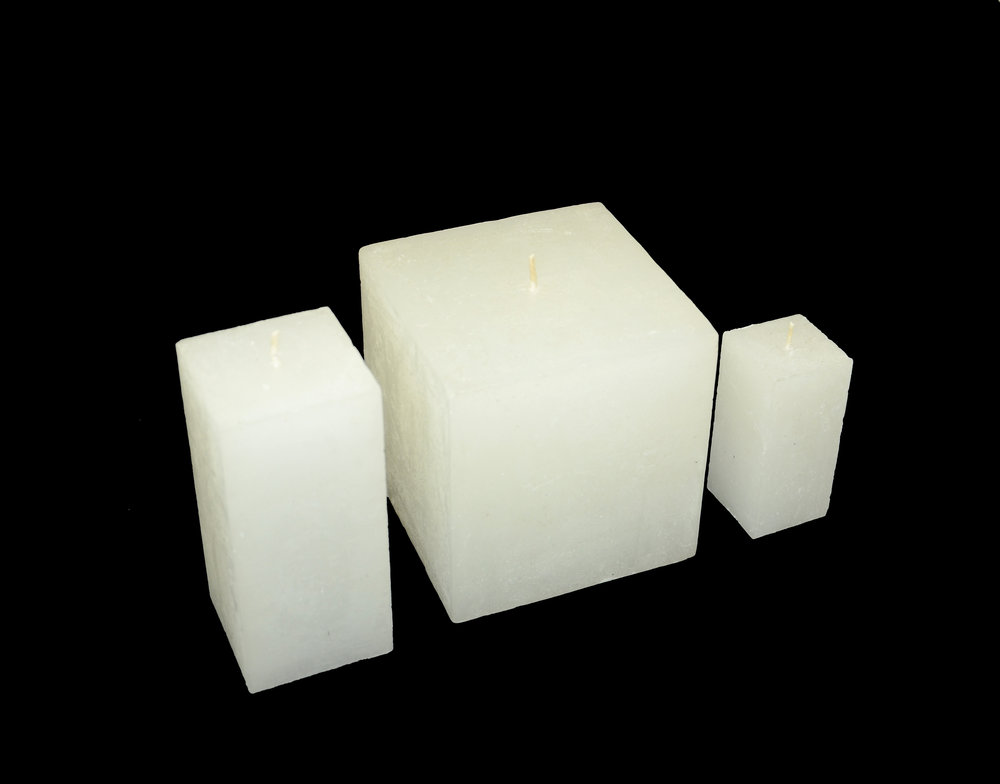 PLAIN FROST CUBE CANDLES