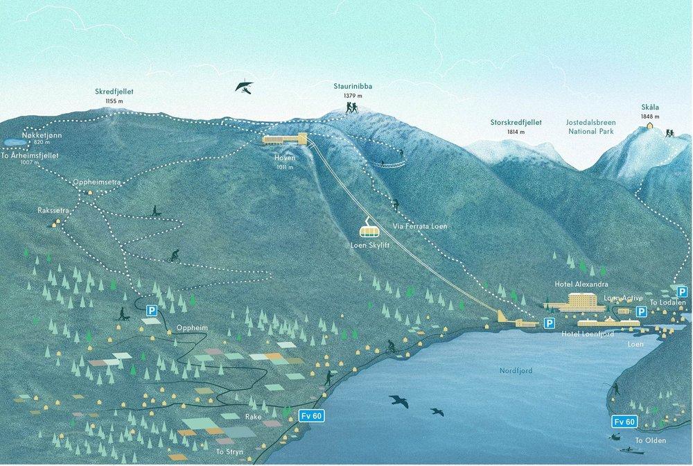 kart over loen Maps — Loen Skylift