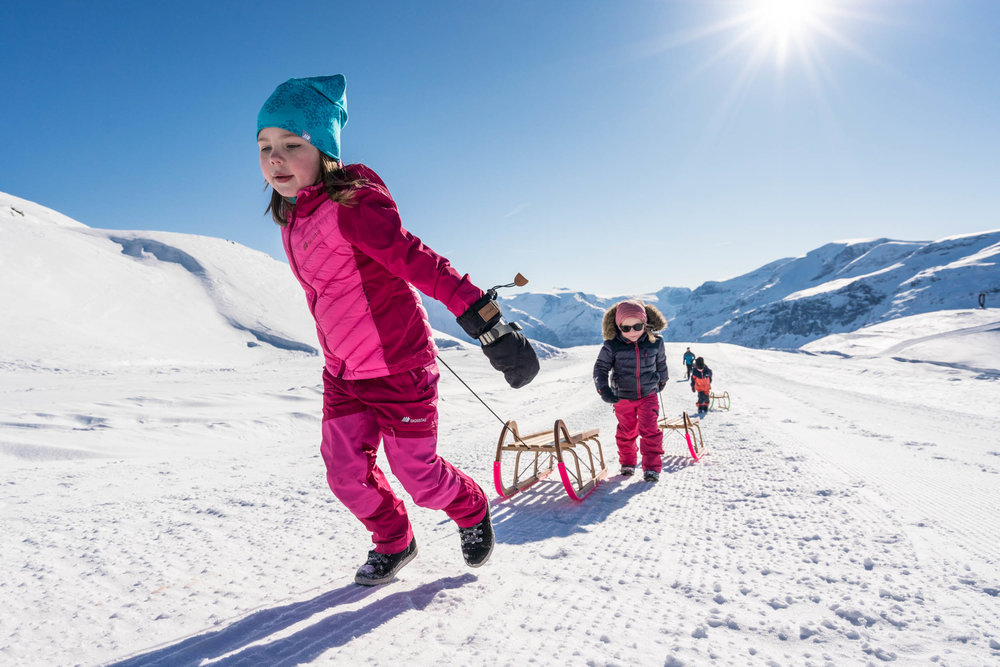 Sled Rental - Try our fast-paced sledges at Mount Hoven. Rentral of sledge and helmet included.