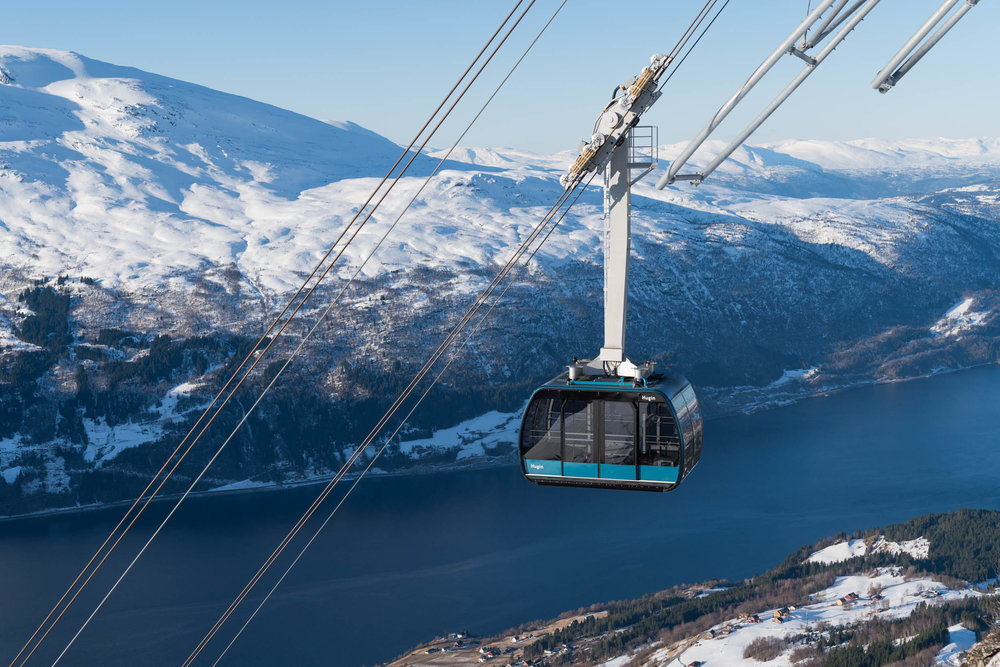 Loen Skylift - From fjord to sky in 5, on one ot the world's steepest cable cars.