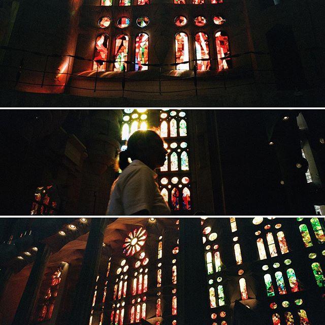 Stained glass mood.  #hasselblad #hasselbladxpan #xpan #natura1600 #sagradafamilia