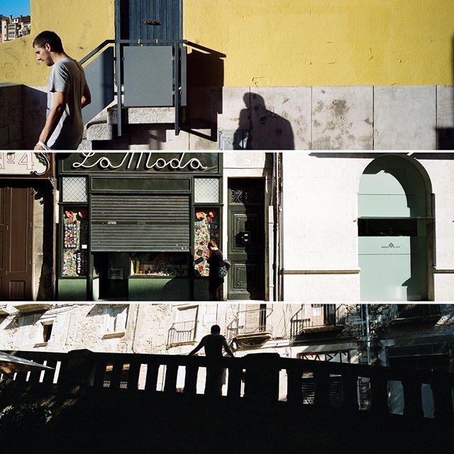 Streets across the bridge. #hasselblad #hasselbladxpan #xpan #portra800 #spain #girona