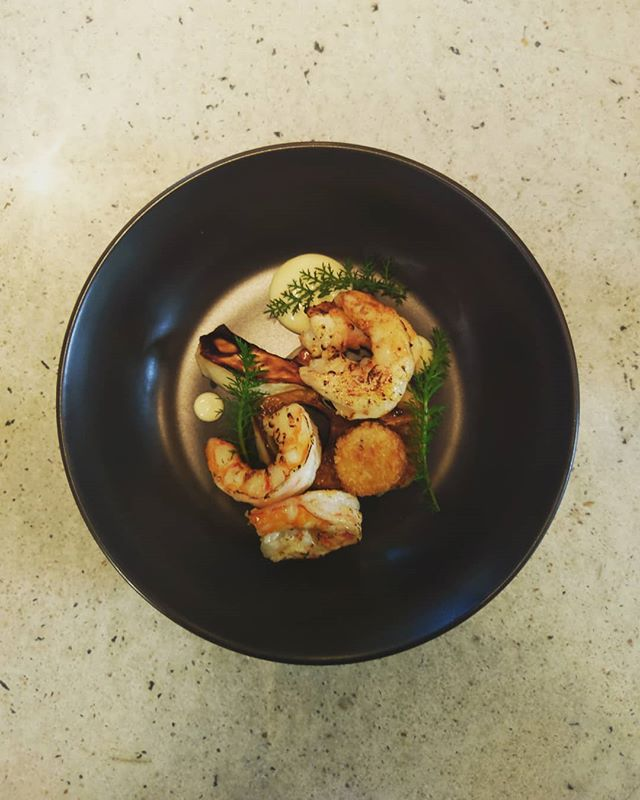 Fresh Australian Prawns, Yarrow, Celeriac. Stop it. Don't stop it. 🦐🦐🦐 . . . #fresh #australia #seafood #handmade #winter #supportlocal #artisan #woodbrook_cbr #smallbusiness #foodporn #seasonal #cbr #cbrlife #cbrwedding #canberraevents #canberraweddings #canberra #canberrafood #canberracatering