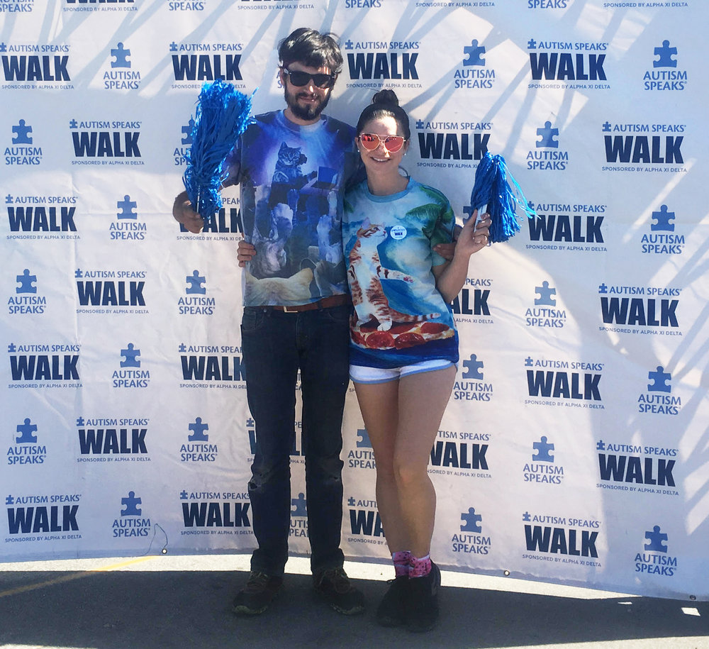 Autism Speaks Walk 2017 It was my first year being a team captain! Thanks to my fiancé Alex for waking up early on no sleep to walk with me. #TeamWick Autism Speaks is a wonderful nonprofit championing Autism research and awareness.  https://www.autismspeaks.org/