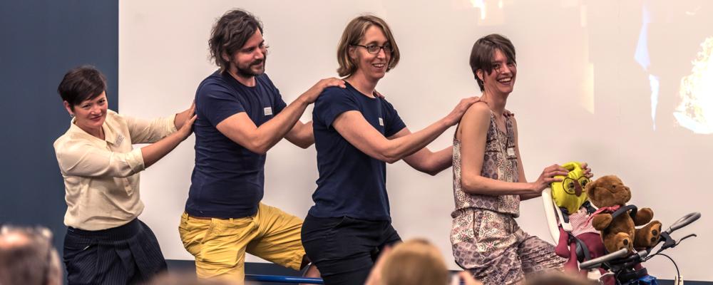 """Foto beim Lancierungsanlass """"Ästhetische Bildung & Kulturelle Teilhabe – von Anfang an!"""", Foto Kathrin Schulthess,  www.schulthess-foto.ch"""