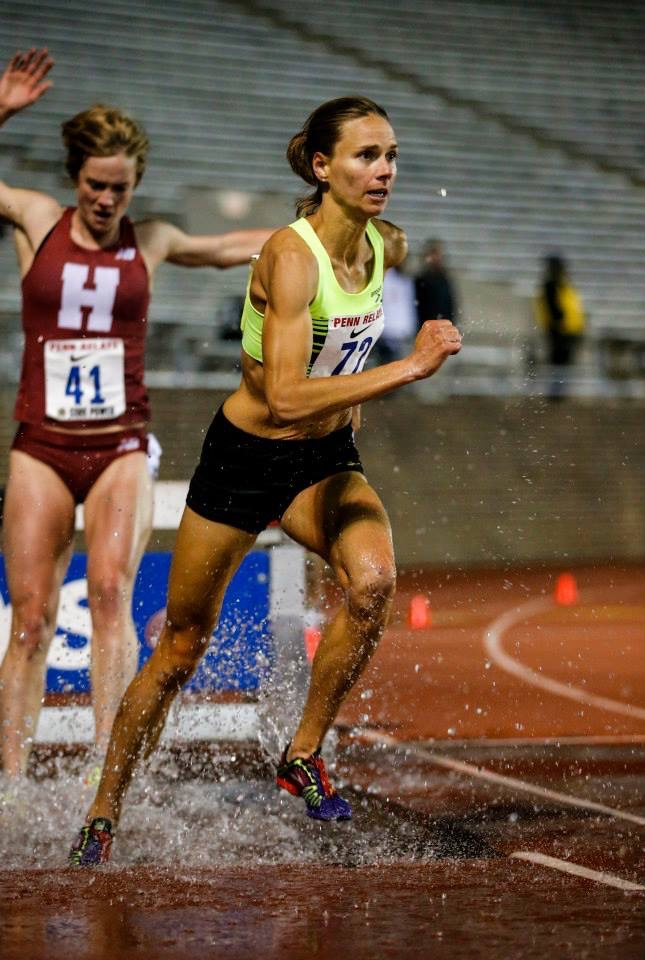 Hitting the water jump at the Penn Relays in 2015.