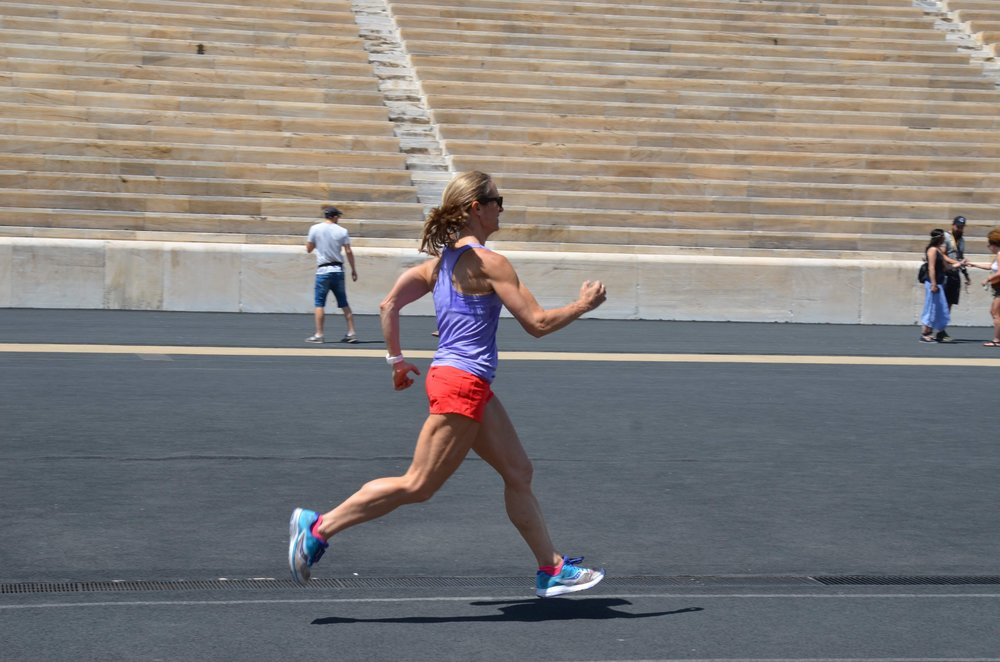 """Here I am running in the Olympic Stadium last summer. Thanks to Formula I'm now """"an Olympian""""!"""