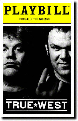 Philip Seymour Hoffman and John C. Reilly in True West. In this production they swapped parts every 4 or 5 nights.