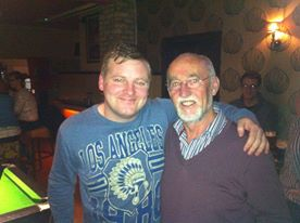Me and Seamus Dennison after a production of ALONE IT STANDS in Roscommon 2013