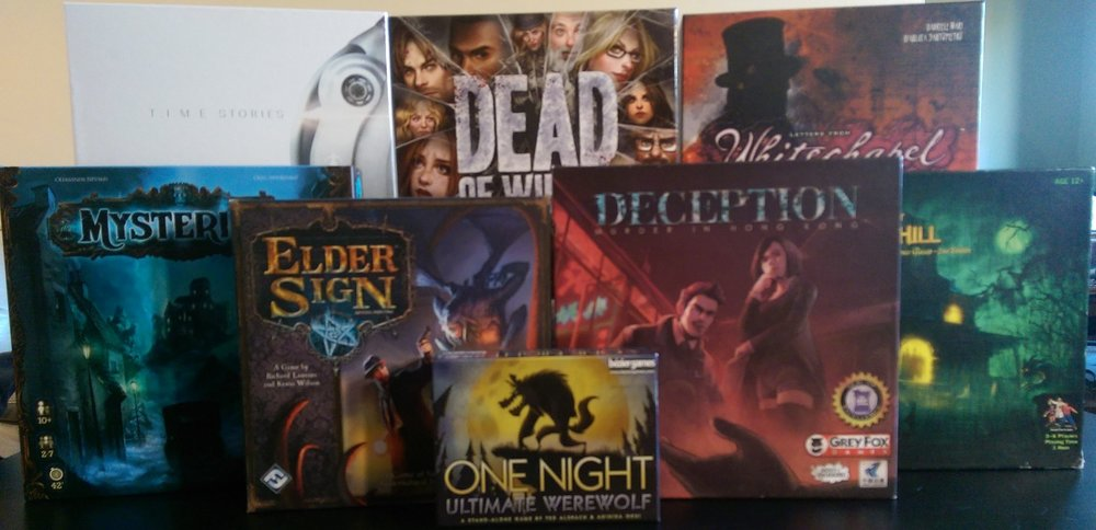 as halloween approaches we found ourselves looking for good games to stay in the holiday spirit we quickly began looking through our board game collection