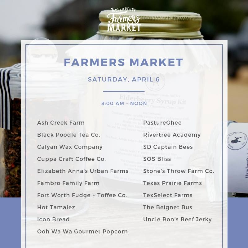 Saturday Farmers Market - If the rain doesn't stop us we will be there from 8 AM to 12 PM with fresh produce and a limited amount of harvest boxes. To reserve your $25 Fresh Harvest Box contact us here. Look for updates tomorrow on social media to see if we are attending the Clearfork Farmers Market.