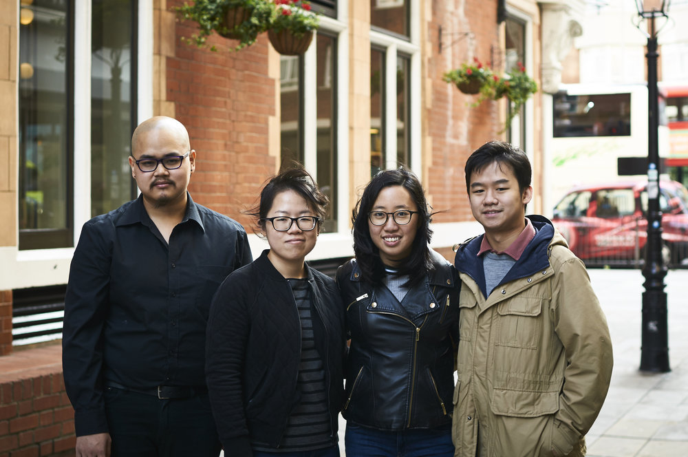 Bertram, Lynette, Zephany and Wilford met as students at the Royal College of Music in London.