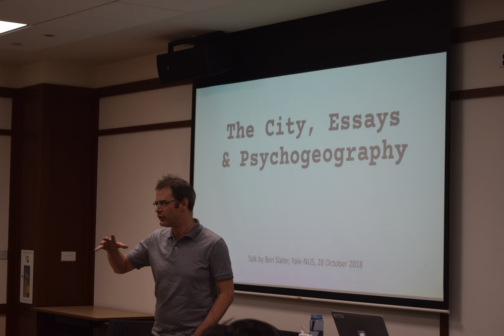 Film Workshop with Ben Slater - 28 October 2017Discussing narrative devices in film, Ben Slater encouraged the teams to embrace multiplicity in narratives, and cautioned against succumbing to  nostalgia when engaging with Singapore's past.