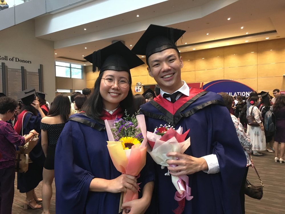 They graduated together from NTU's WKWSCI earlier this year.