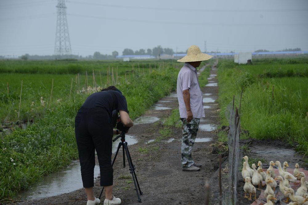 Kaiyan on a documentary shoot in China