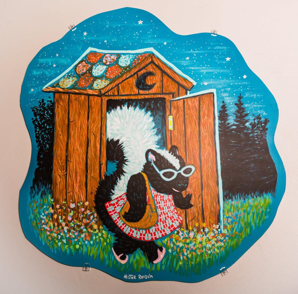 Skunk & Outhouse  Mark Reusch $250