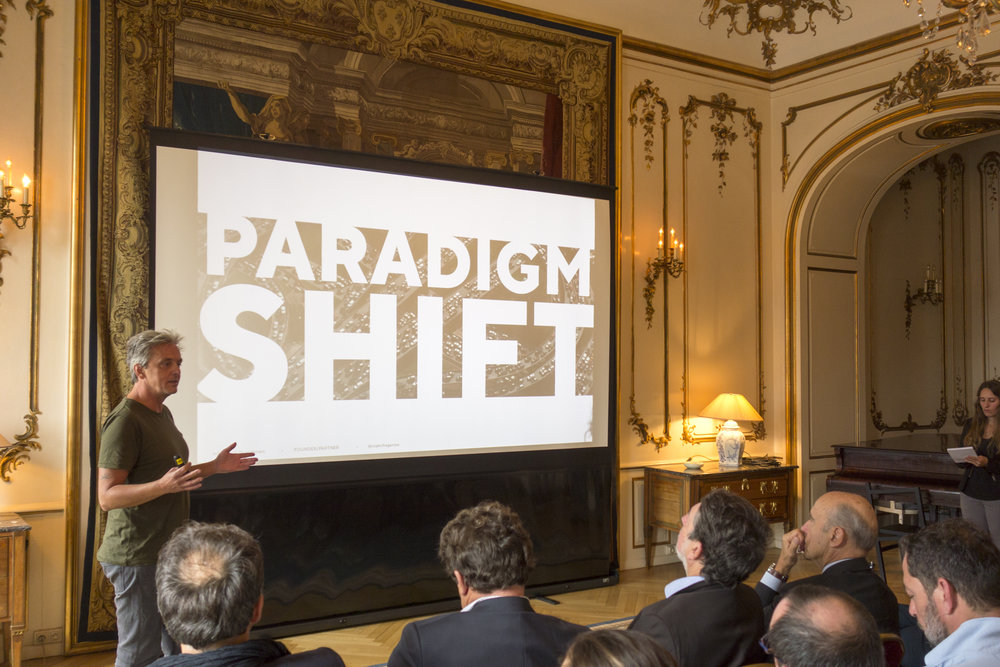 Mikael Colville-Andersen presents on the need for a paradigm shift towards the bicycle.