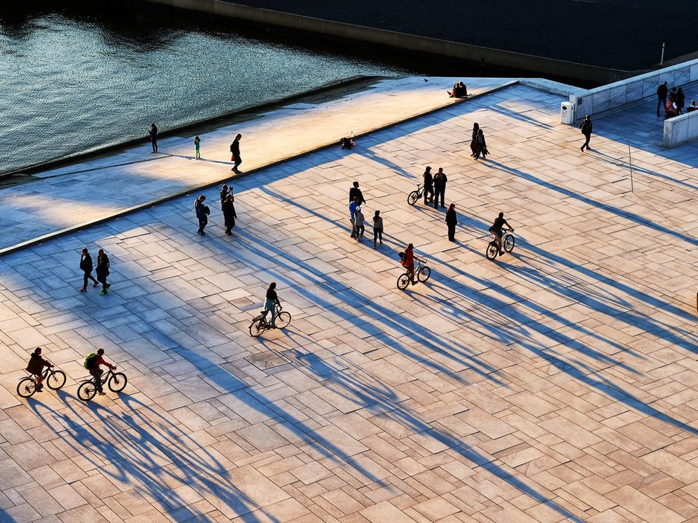 Bikes outside the Oslo Opera House. (Andrea Pistolesi / Getty Images)