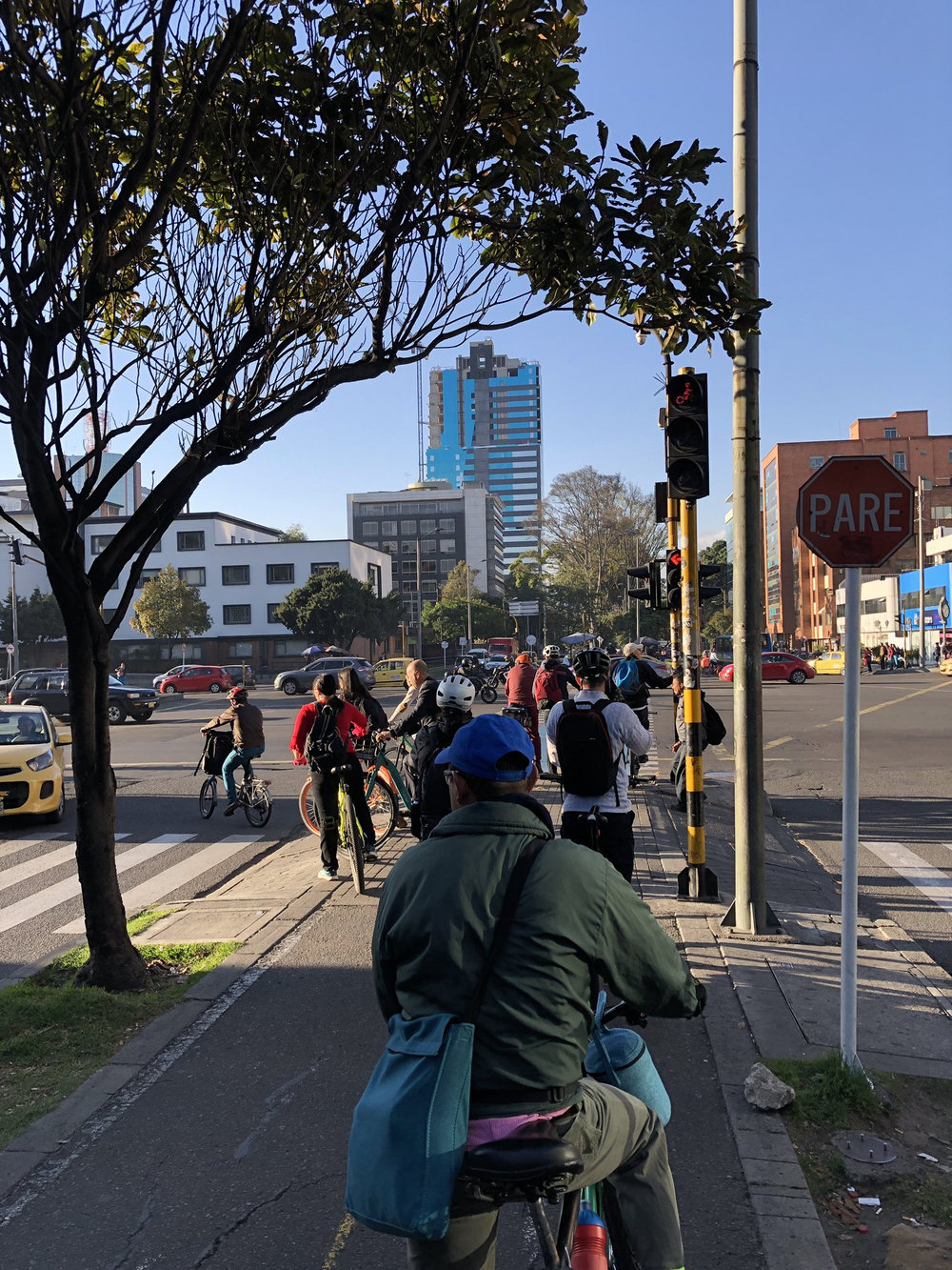 A busy cycle track in Bogotá shows promise for the city — and significant user demand for bicycle infrastructure.