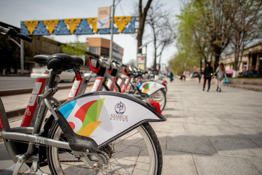 Shymkent's local bike share system, Shymkent Bike.