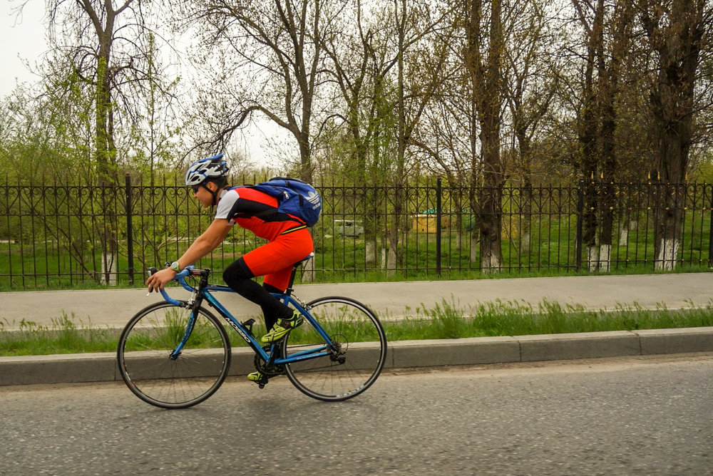 Some use the bicycle for sport, too.