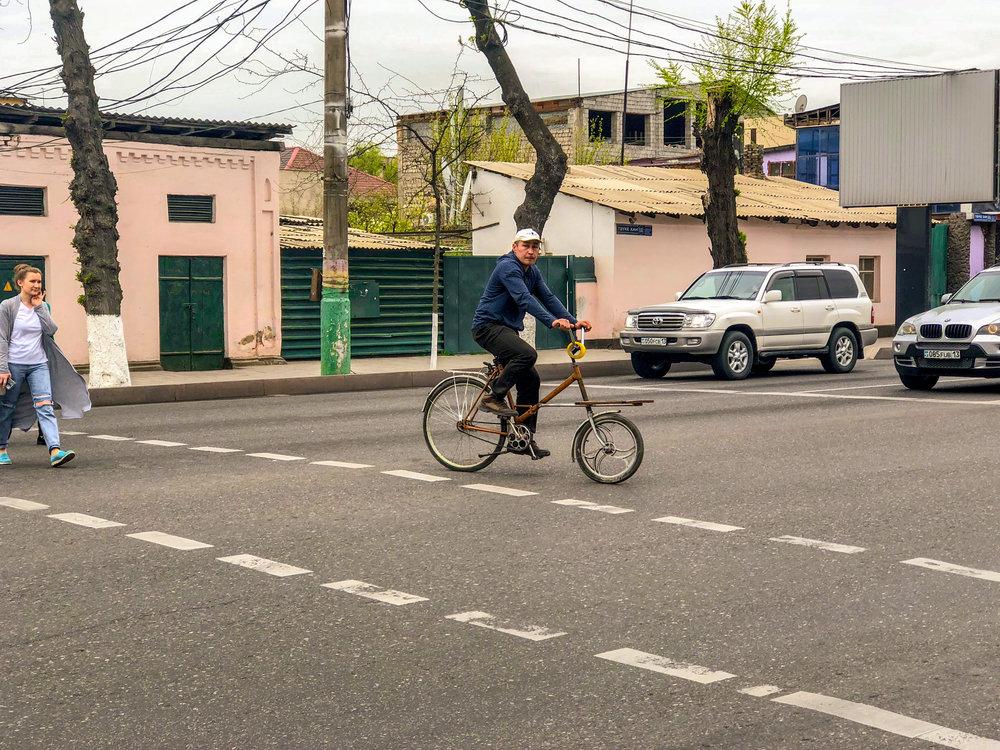 Spotted: A custom cargo bike in Shymkent.
