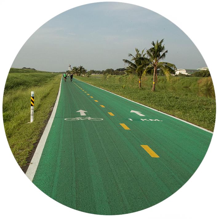 Bangkok Airport Cycle Track