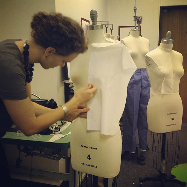 Day one of draping class! #megafun #creativityforthewin @le_fashion_lab