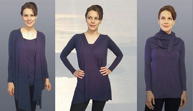 Designed this top for a travel contest! It is one piece. The front pannels unsnap so you can use them as a scarf! Votes help with the winning process 😃 so if you ❤ it -  https://www.betabrand.com/transition-temperature-travel-tunic-womens.html #emergingdesigner #fashiondesigninatl