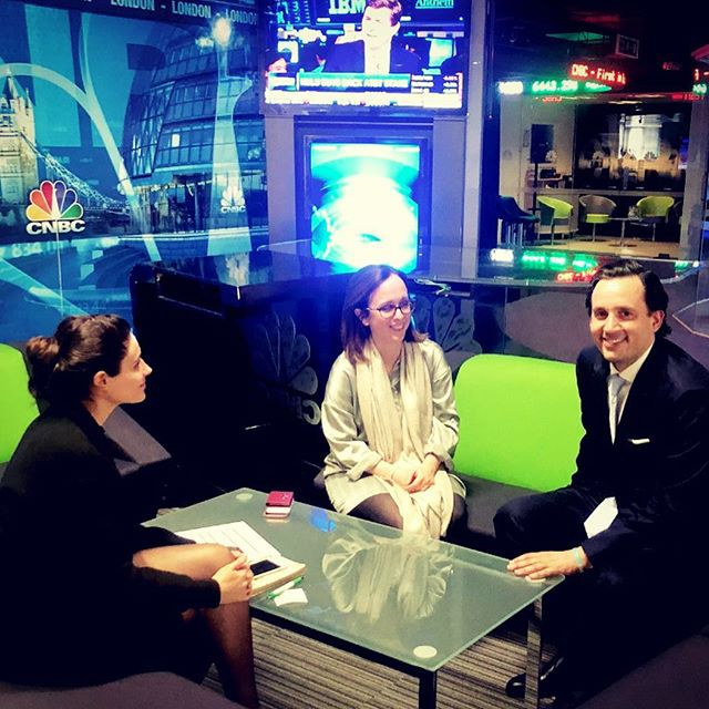 Fantastic meeting with @cnbc discussing Latin American political affairs, pitching our entrepreneurs and governments clients and planning a partnership with one of the most influential business TV channels @atavou @rodolfomilesi . #investment #finances #tv #pr #cnbc #brandinglatinamerica #journalism