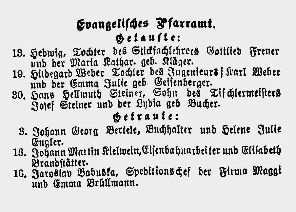 Heiratsanzeige von Jaroslav Babuska und Emma Brüllmann, 1906 4