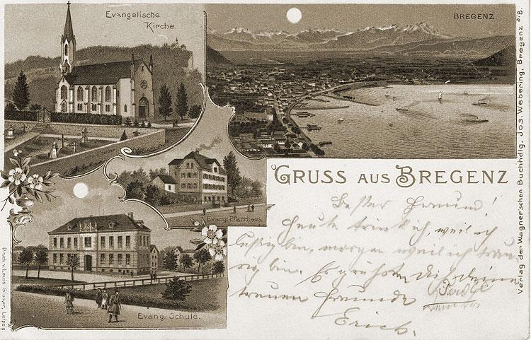 Evangelische Kirche Bregenz, um 1900 5