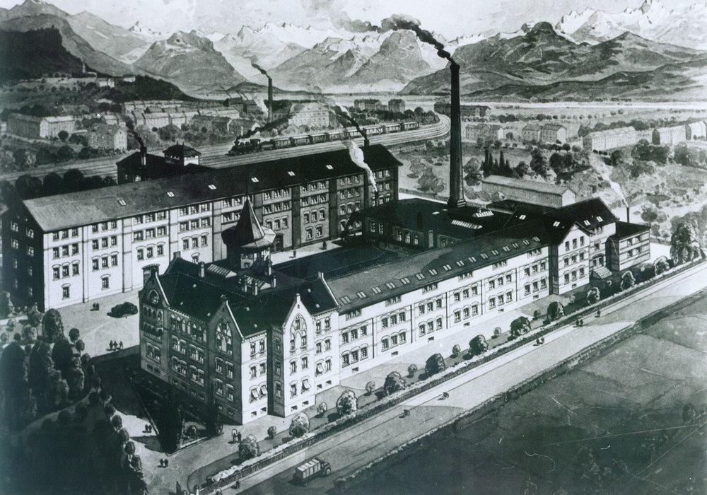 Stahlstich des Benger Areals, um 1900 12