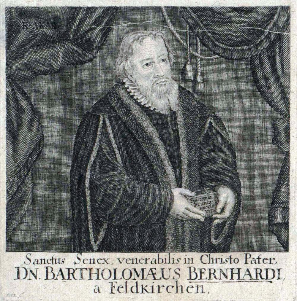 Bartholomäus Bernhardi, Kupferstich von Johann Christoph Boecklin (1657–1709) und Johann Aepinus 13