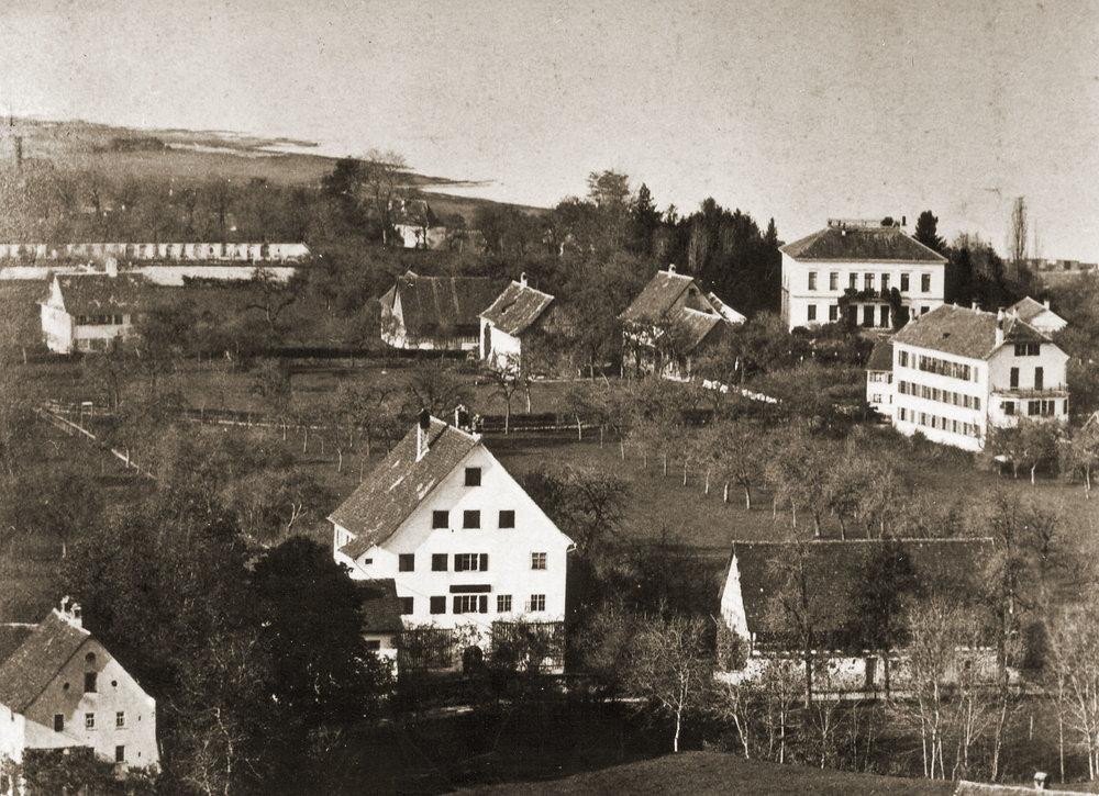 Blick auf die Villa Gülich (heute Künstlerhaus Palais Thurn und Taxis,hinten rechts), 1875 15