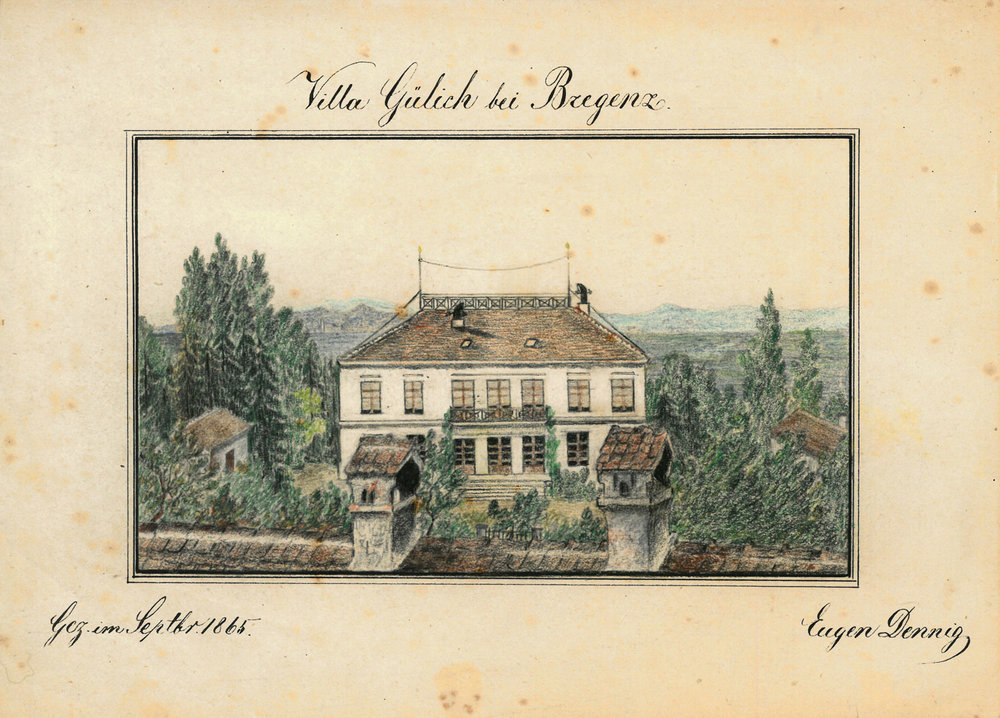 Villa Gülich, gezeichnet von Eugen Dennig im September 1865 16