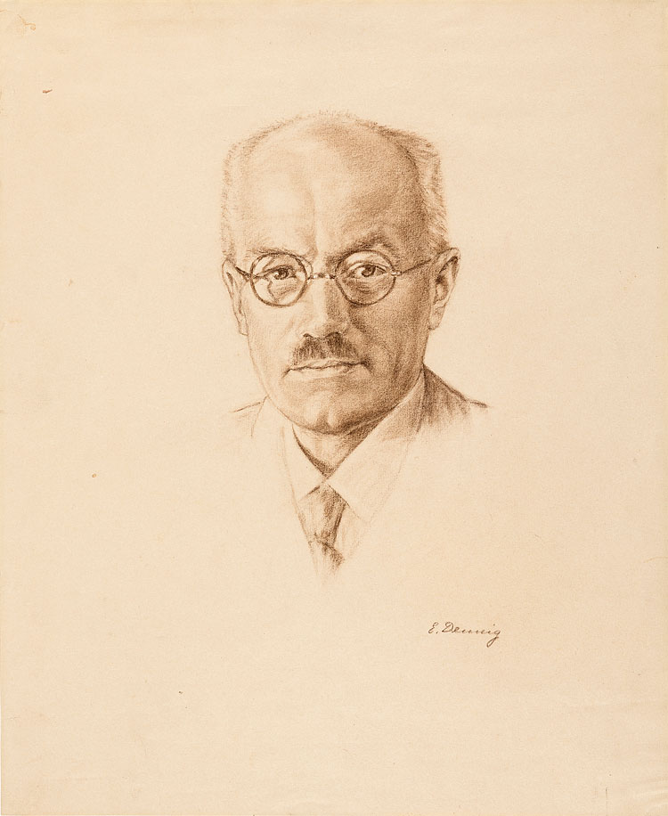 Porträt Adolf Hild, gezeichnet von Edith Dennig, um 1940 17