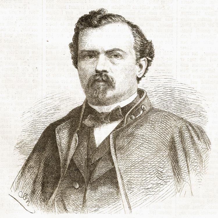 Zeitungsausschnitt mit einem Porträt von Alfred Meißner, 1863 42