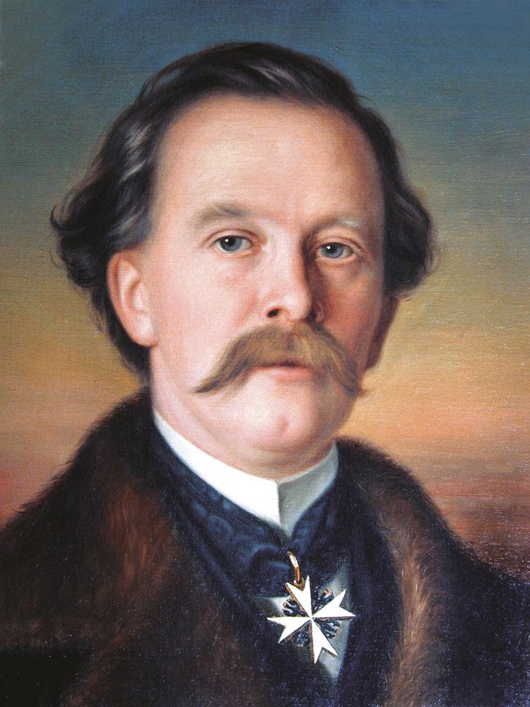 Ernst Freiherr von Poellnitz, 1867, von Anton Boch d. Ä. (1818–1884), Gemälde, Öl auf Leinwand 45