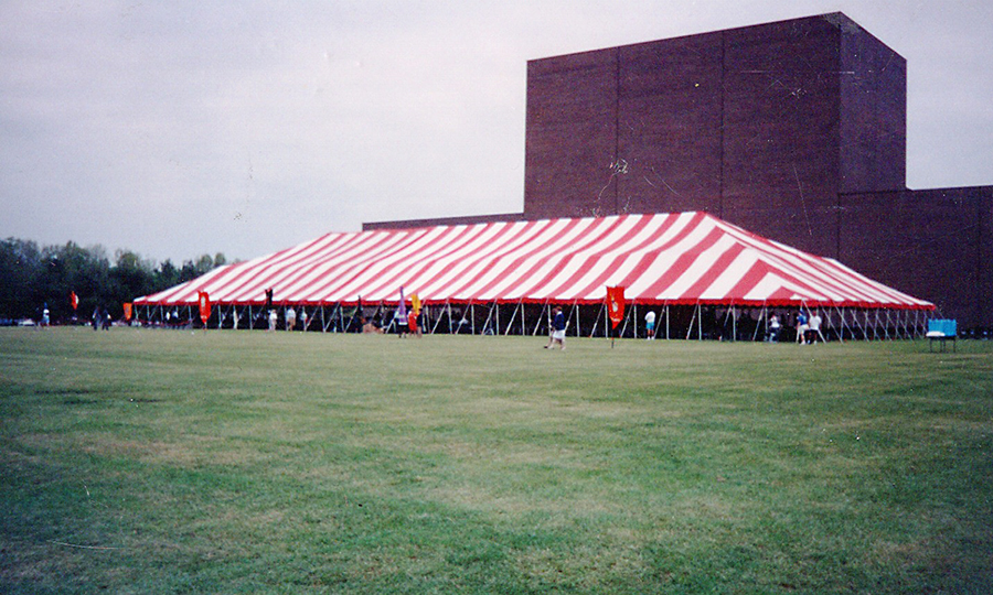 CUNY Graduation Tent, Sometime in the 90's, Photo by Getch