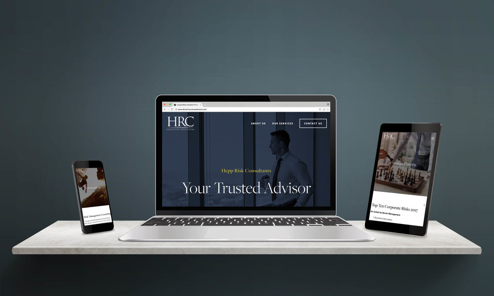 Hepp Risk  - Website design for Hepp Risk ConsultantsWeb Design work:> Complete website redesign> Minor branding updatesThe Results: Website simplified and modernized in a short amount of time.> See the live site[ Work completed by Arrow 34 in conjunction with Cooks Bay Marketing ]