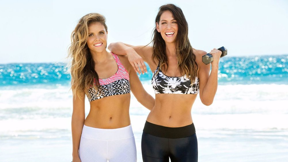 """Katrina Scott and Karena Dawn named their fitness website """"toneitup.com"""" to attract and grow a community of women who want to tone it up"""