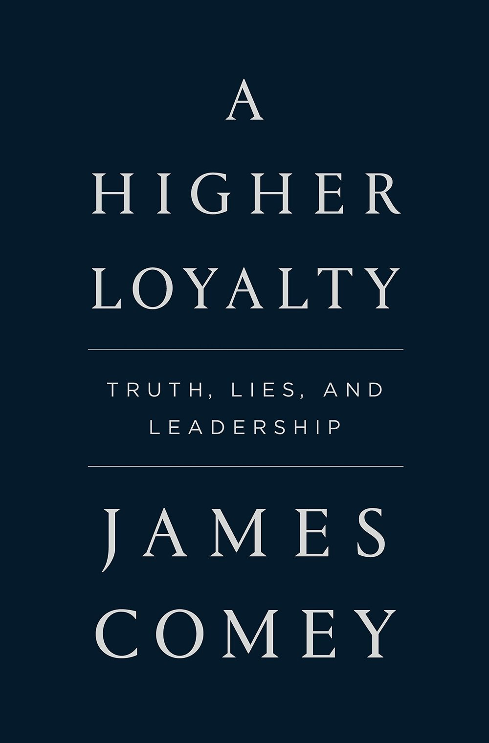 A Higher Loyalty: Truth, Lies and LeadershipBy James Comey - This book is a fascinating account of leadership at the heart of the FBI.Former FBI director James Comey shares his never-before-told experiences from some of the highest-stakes situations of his career in the past two decades of American government, exploring what good, ethical leadership looks like, and the impact of not making sound decisions. His journey provides an unimagineable entry into the corridors of power, and a remarkable lesson in what makes an effective leader.From prosecuting the Mafia and Martha Stewart to helping change the Bush administration's policies on torture and electronic surveillance, overseeing the Hillary Clinton e-mail investigation as well as ties between the Trump campaign and Russia, Comey has been involved in some of the most consequential cases and policies of recent history.Order this now on Amazon by clicking here