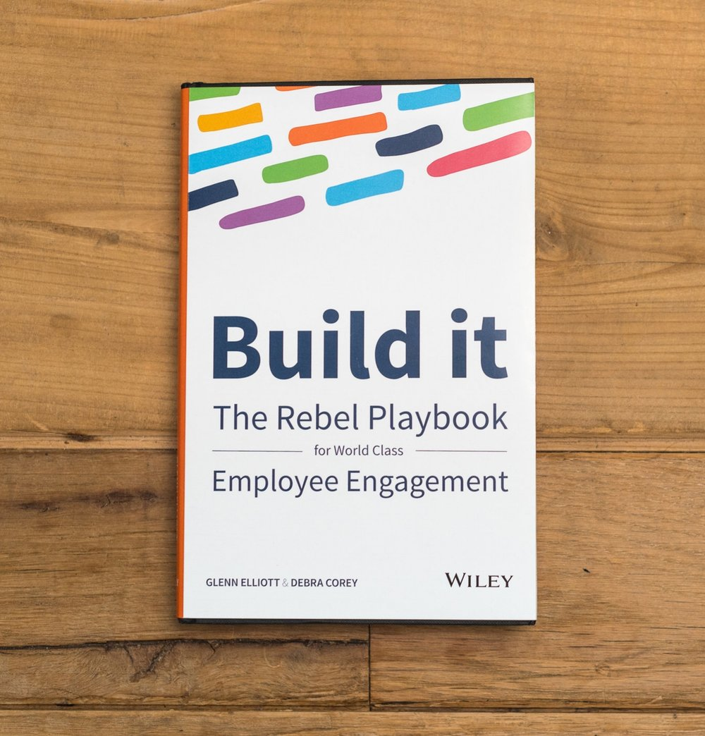 Build It: The Rebel Playbook for World Class Employee EngagementBy Glenn Elliott and Debra Corey - The old way of treating people at work has failed. Over 60% of workers are not engaged at work.Now you can learn a proven model to build sustainable employee engagement.Companies with the best cultures generate stock market returns of twice the general market and enjoy half the employee turnover of their peers. Their staff innovate more, deliver better customer service and, hands-down, beat the competition. These companies outperform and disrupt their markets. They break the rules of traditional HR, they rebel against the status quo.Order this now on Amazon by clicking here