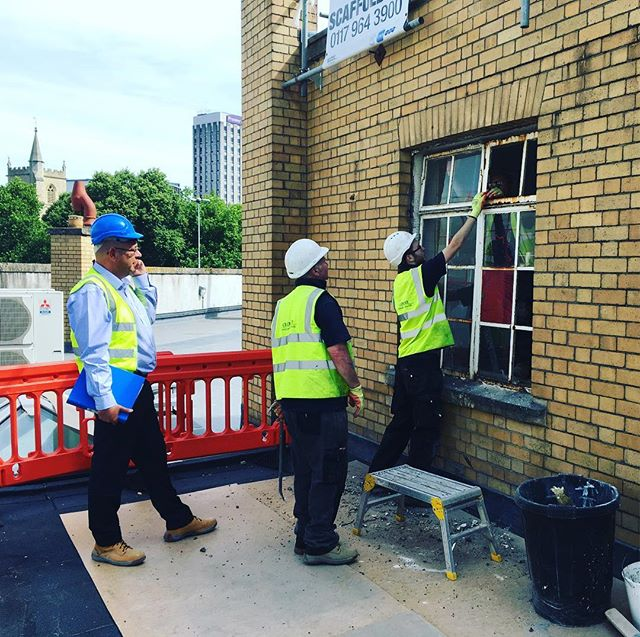 Big day on site today as the old windows are coming out. New ones will be arriving on site this week. @johnperkinsconstruction @clementwindows @heritagelotteryfund #bristol #ymca #heritage #hlf #hostel #charity #socent